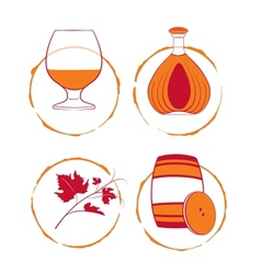 The cognac set vector