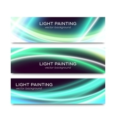Set of horizontal banners for website or flyer vector