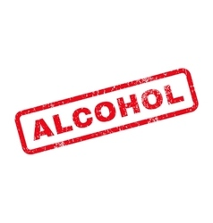 Alcohol text rubber stamp vector