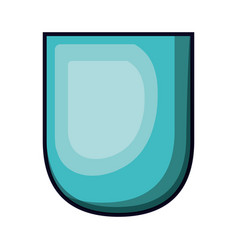 badge in aquamarine color with brightness vector image vector image