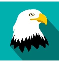 Bald eagle flat icon vector