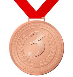 bronze medal vector image vector image