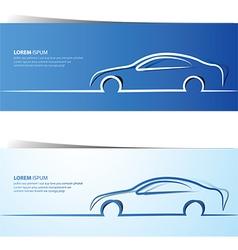 Car banner vector