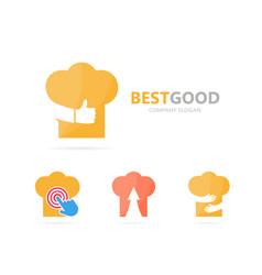 chef hat and like logo combination vector image