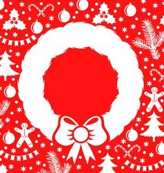 Christmas wreath red vector