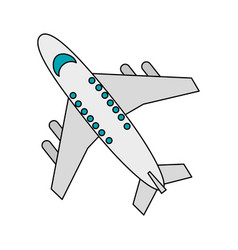 Commercial airplane icon image vector