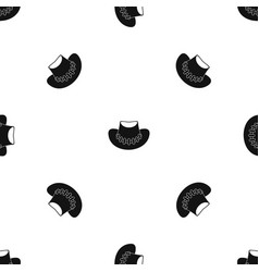 Cowboy hat pattern seamless black vector