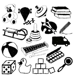 Doodle toys vector