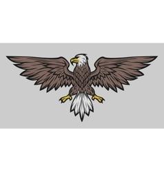 Eagle mascot spread wings Color version vector image