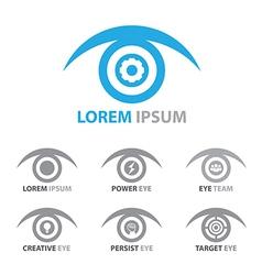 Eye icon symbol set vector