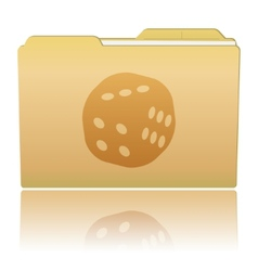Folder with dice vector