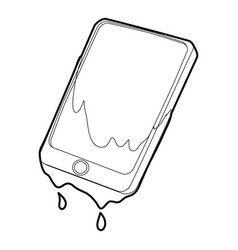 Gadget in water icon outline style vector