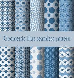 geometric blue seamless pattern - vector image vector image