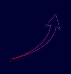 Growing arrow sign line icon with vector