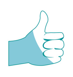 Hand man ok like gesture icon vector