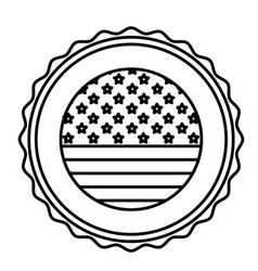 Isolated usa seal stamp design vector