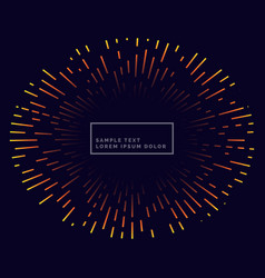 Lines firework backgorund design vector