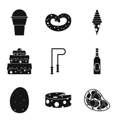 lose weight icons set simple style vector image