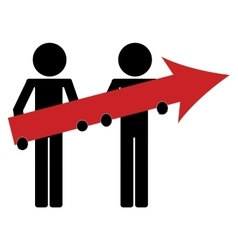 man icon avatar arrow business growth vector image