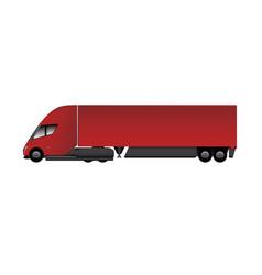 Modern electric truck vector
