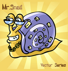 Mr snail with style vector