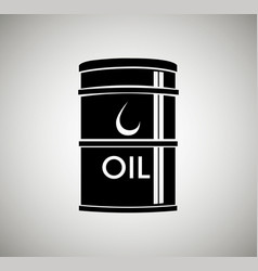 Oil container isolated icon vector