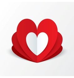 Paper heart Valentines day card Flower concept vector image vector image