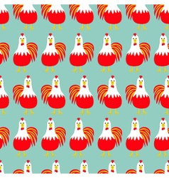 Rooster cock bird seamless pattern 2017 happy new vector