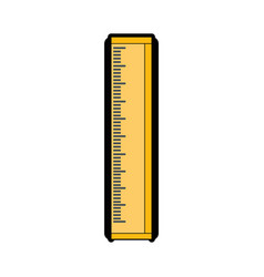 ruler utensil icon vector image vector image
