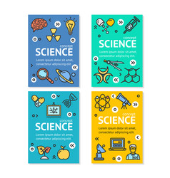Science research flyer banner posters card vector