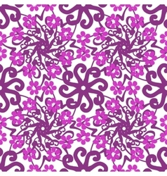 Seamless floral hand-drawn pattern vector