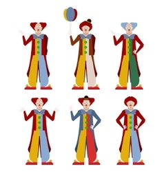Set of clowns vector image