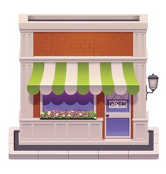 small shop icon vector image vector image