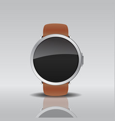 smart electronic intelligence watch vector image vector image