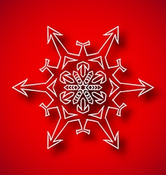 Snowflake with shadow vector image vector image