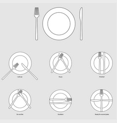 Table etiquette vector