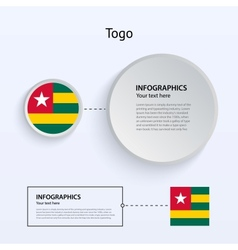 Togo country set of banners vector