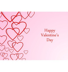 Valentine beutiful background with hearts vector