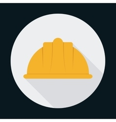 Helmet industrial security safety icon vector
