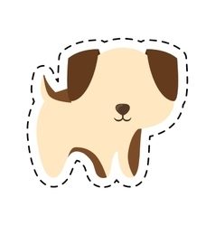 Puppy adorable pedigree cut line vector