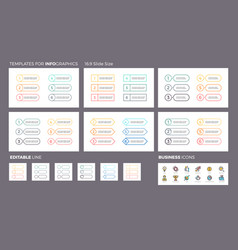 Business infographics ui navigation elements vector