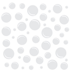 White background with bubbles vector