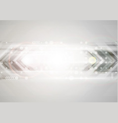 Shiny grey abstract technology background vector