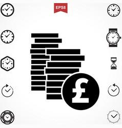 Pound icon vector