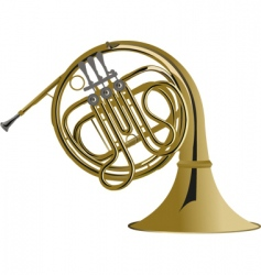 french horn vector image