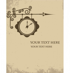 Vintage watch making sign wall vector