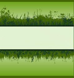 Green strip vector