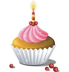 Cupcake birthday vector
