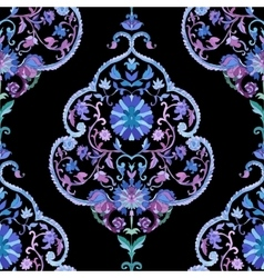 Beautiful watercolor paisley seamless pattern vector