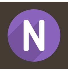 Letter n logo flat icon style vector